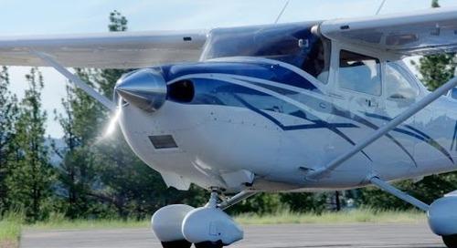 Take Off at 8,000 ft Density Altitude - C182 Skylane - Mountain Flying - NorCal - ATC audio