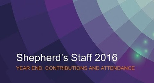 Shepherd's Staff - Contributions and Attendance - Year-End Process