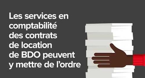 Services en comptabilité des contrats de location de BDO