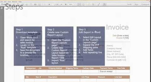How Do I Create a new Word Report Based on an Existing Word Template in Dynamics NAV 2015