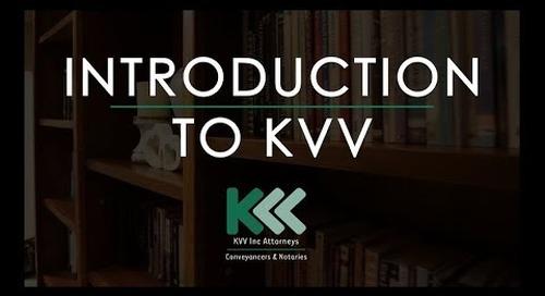 INTRODUCTION TO KVV Inc