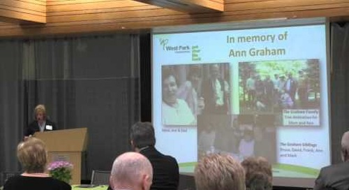 Donor Wall Ceremony 2016 - Ann Graham