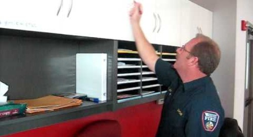 Signage Grease Board On Modular Casework For An Area For Quick Notes Toll Free 1-800-803-1083