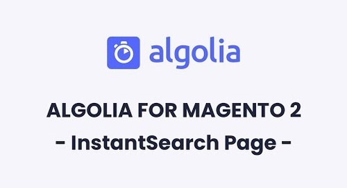 Algolia for Magento 2 | InstantSearch Page Configuration
