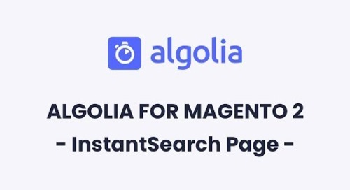 Algolia for Magento 2 | InstantSearch Page Configuration