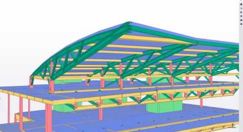 Cincinnati Tennis Center Court South - 2018 Tekla North America BIM Awards