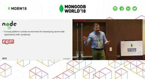 Tutorial - MongoDB & NodeJS: Zero to Hero in 80 Minutes