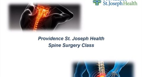 Providence St. Joseph Health | Spine Surgery Class