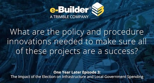 What are the policy & procedure innovations needed to make sure all of these projects are a success?