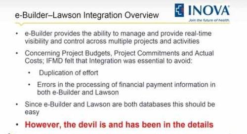 Inova Webinar - Integrating Your Capital Project Systems