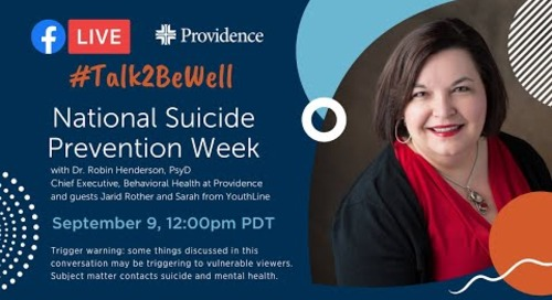 National Suicide Prevention Week with special guests from YouthLine