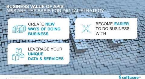 Webinar: How APIs free your data and unlock value