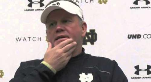 Notre Dame's Brian Kelly - 11/13 PC - Northwestern