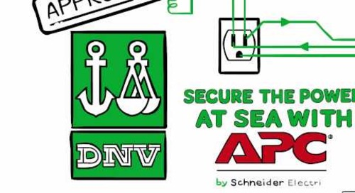 Secure the Power at Sea with APC by Schneider Electric