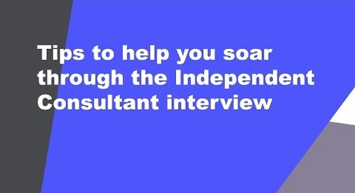 Sailing through an independent consultant interview