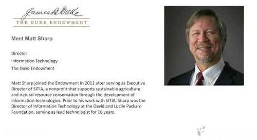 Blackbaud Webinar: Customer Story featuring the Duke Endowment