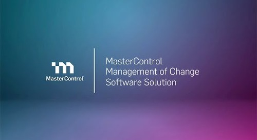 MasterControl Management of Change Software Solution Demo