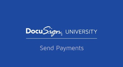 Send Payment with DocuSign