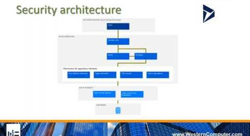 Brief Explanation of Security Architecture in D365 for Finance and Operations