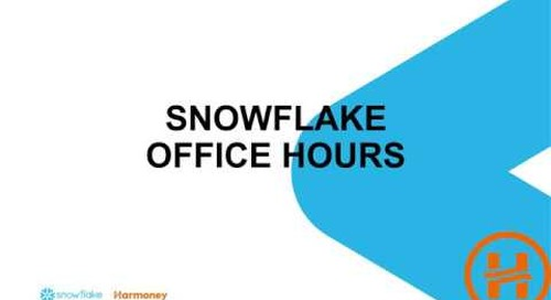 Webinar: Snowflake Office Hours featuring Harmoney