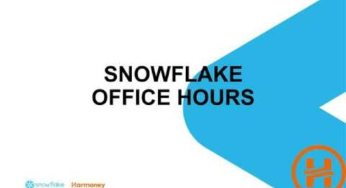 Webinar: Snowflake Office Hours featuring Harmoney
