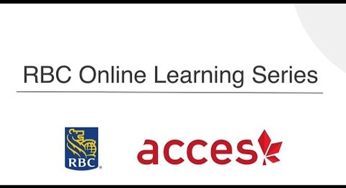 RBC Online Learning Series: Elevator Pitch