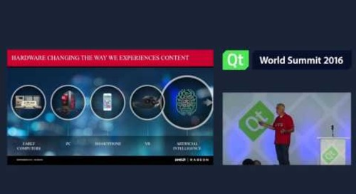 QtWS16 Inspiration Spotlight VR, Andrej Zdravkovic, AMD, Keynotes