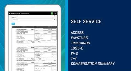 Employee Self Service with Viewpoint HR Management