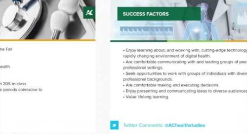 Digital Health Webinar - Algonquin College