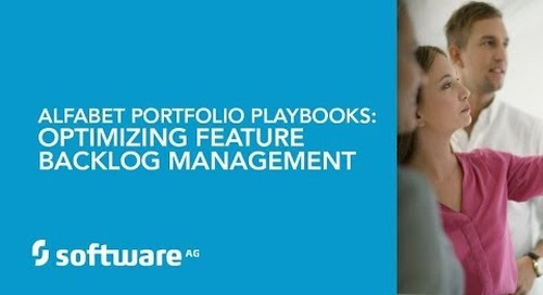 Alfabet Portfolio Playbooks: Optimizing Feature Backlog Management