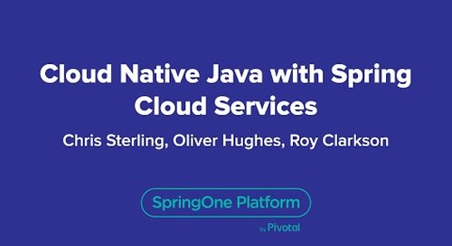 Cloud-Native Java with Spring Cloud Services
