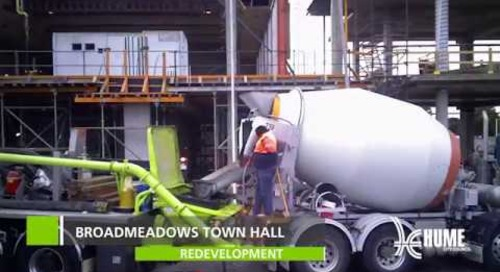Broadmeadows Town Hall redevelopment July - August