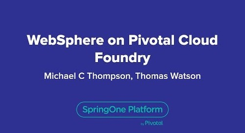 WebSphere on Pivotal Cloud Foundry