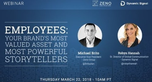 Employee Advocacy: An Overview with Michael Brito from Zeno Group