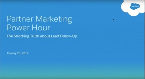 Salesforce Partner Marketing Power Hour January 25, 2017
