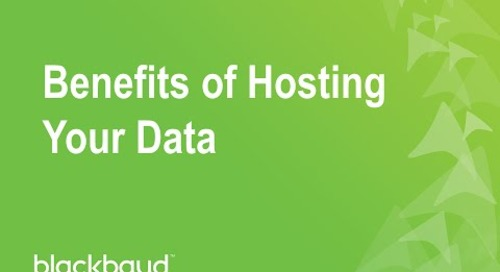 Benefits of Hosting your Data