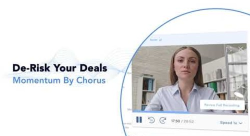 Momentum by Chorus - De-Risk Your Deals