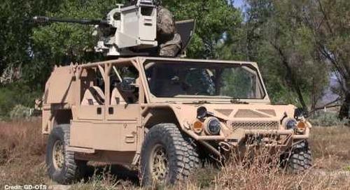 AUSA 2016: General Dynamics Flyer Light Reconnaissance Vehicle (LRV)
