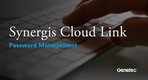 Synergis Cloud Link Password Management
