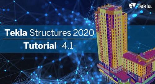 Tutorial Tekla Structures 2020 | 4.1 Listen und Pläne exportieren