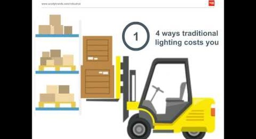 Use Industrial LED Lighting to Beat the Heat in Your Cold Storage Warehouse Webinar - Acuity Brands