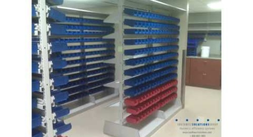 Plastic Bin Shelving for Medical Supply & Bulk Storage