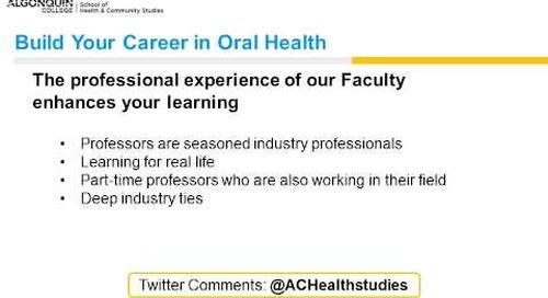 Oral health webinar - Algonquin College