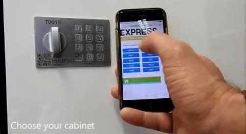 Keyless Lockers Secure Package Delivery Anytime 24/7 Email Text Notification