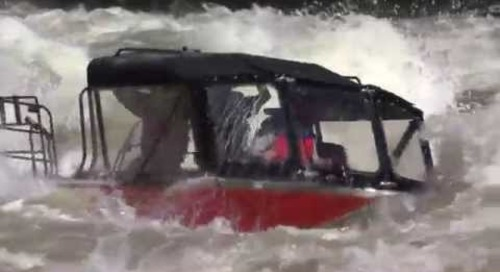 Водомёты Hamilton в экстремальных условиях бурных рек