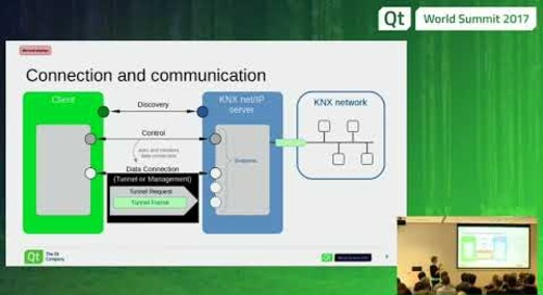 QtWS17 - QtKnx: the new Qt module dedicated to home automation, The Qt Company      Lucie Gerard