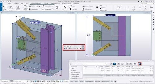 Tekla Structures 2020   Show and Modify Drawing Views in the Model
