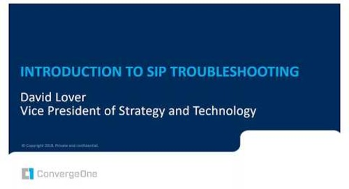 Avaya SIP Troubleshooting