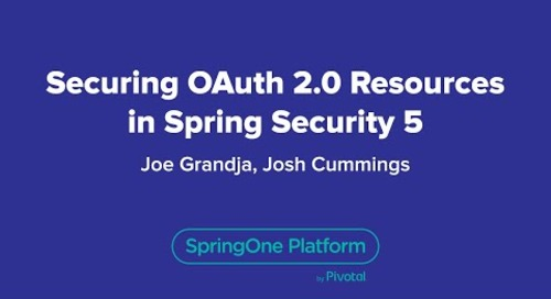 Securing OAuth 2.0 Resources in Spring Security 5.0
