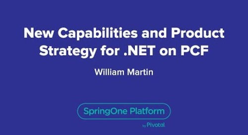 New Capabilities and Product Strategy for .NET on PCF